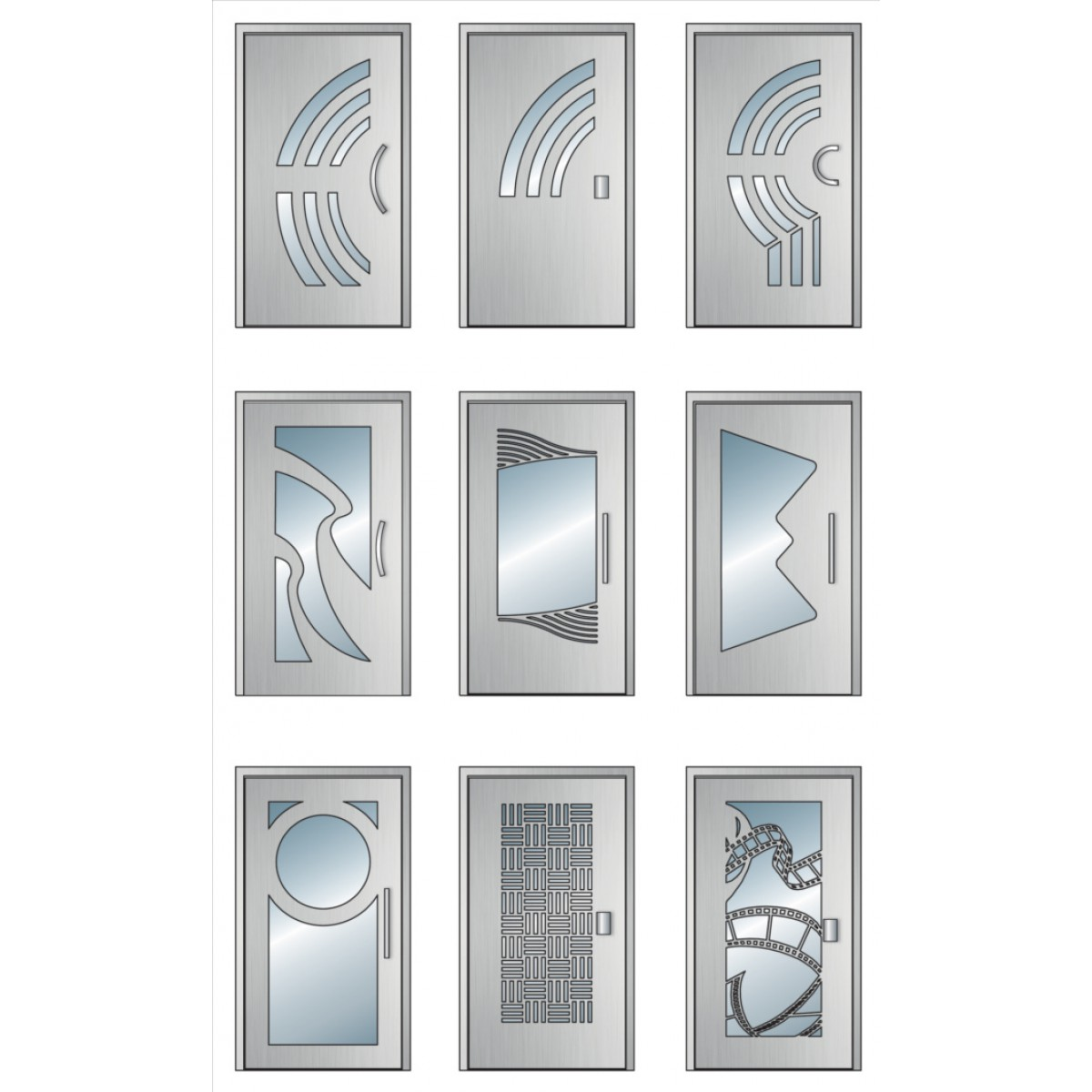 Porte d 39 entr e d 39 immeuble d cor ouragan cibox portes de hall for Largeur standard porte d entree