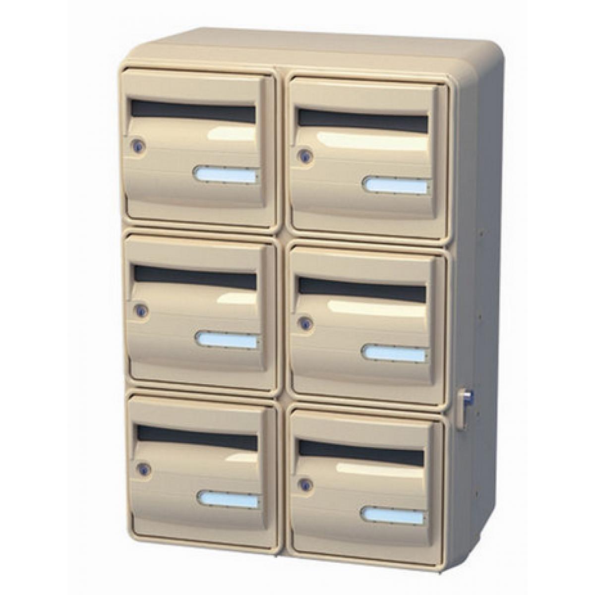 bo tes aux lettres corail pour ext rieur electrobox. Black Bedroom Furniture Sets. Home Design Ideas
