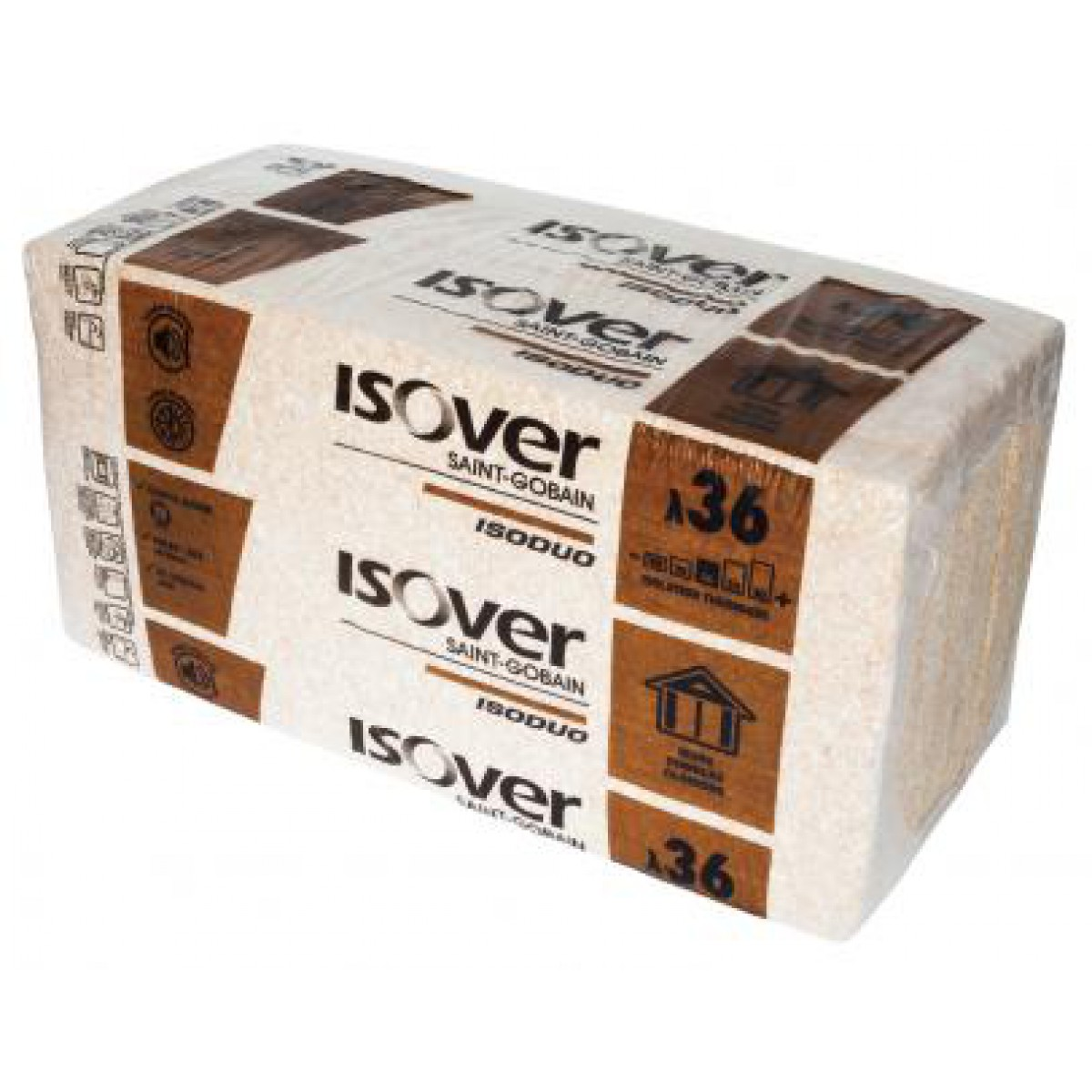 isolant fibre de bois laine de verre isoduo isover tanch it et isolation. Black Bedroom Furniture Sets. Home Design Ideas