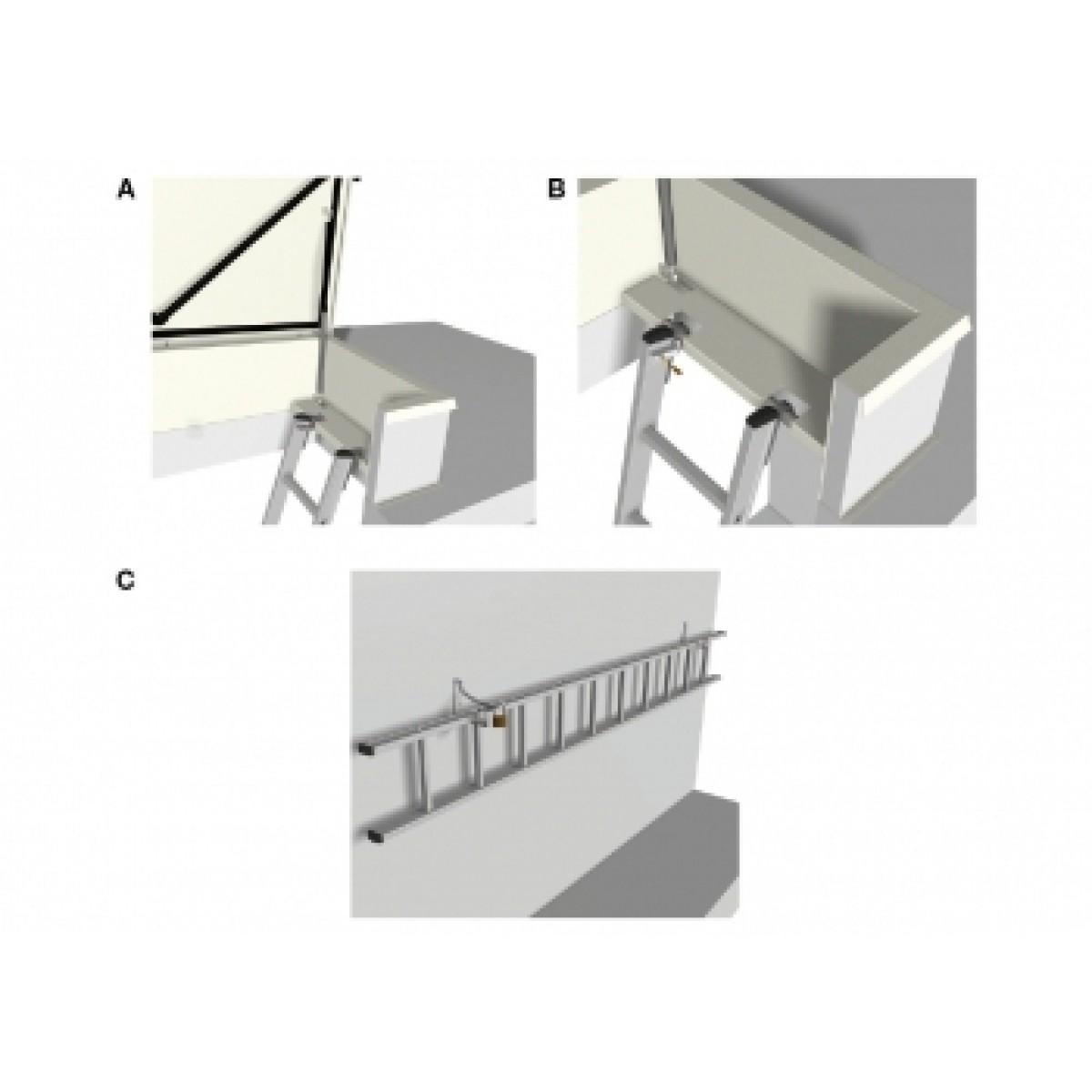 Picture of: Echelle Amovible Pour Trappe De Toit Escaliers