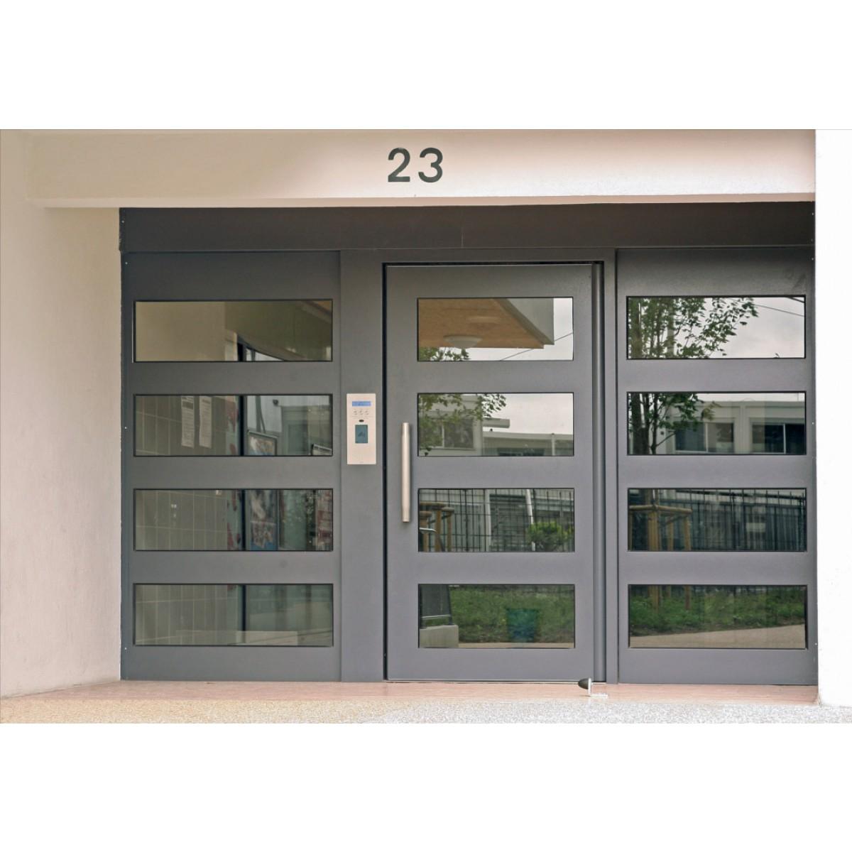 Porte d'entrée d'immeuble Gamme Sécurité Renforcée Trio