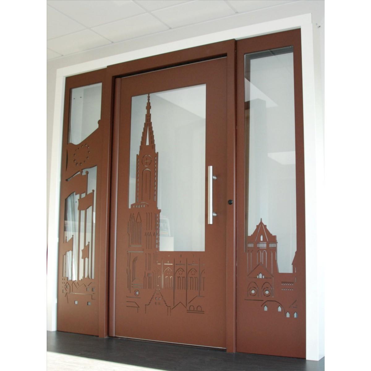 Porte d'entrée d'immeuble Gamme Décor Personnalisée Cibox