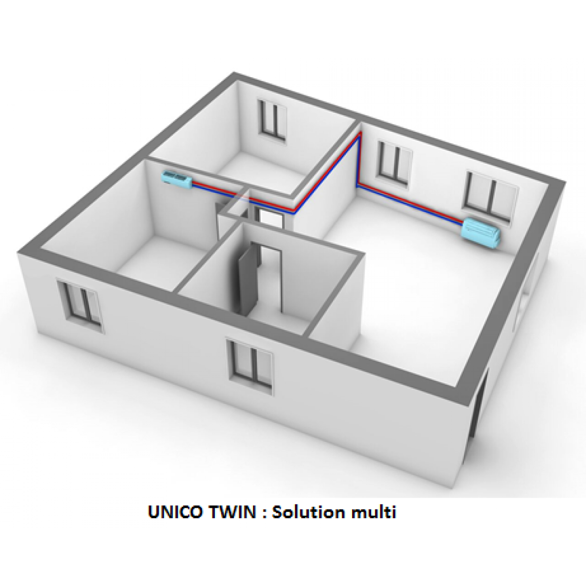 Cache Unité Extérieure Climatisation système autonome de climatisation et chauffage gamme unico