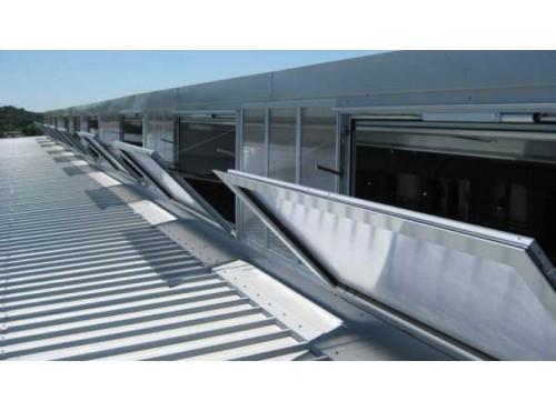 Chassis de façade pour désenfumage Ecovision Ecodis