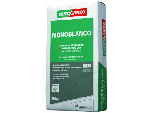 Enduit monocouche semiallégé grain fin spécial blanc Monoblanco Parexlanko