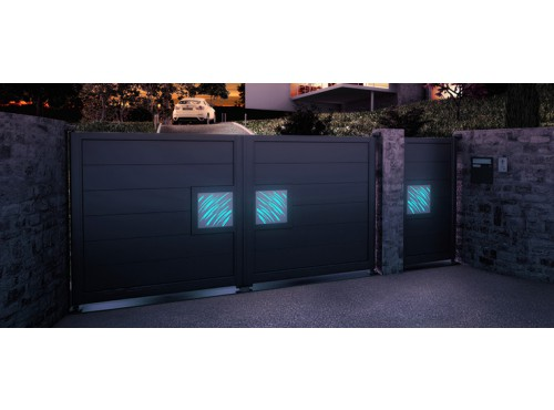 Portails avec système éclairage led collection Night & Day Horizal