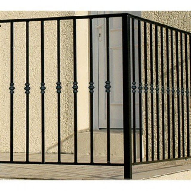 Garde-corps pour balcon en fer prépeint Nordet, haut. 97cm x larg. 146cm