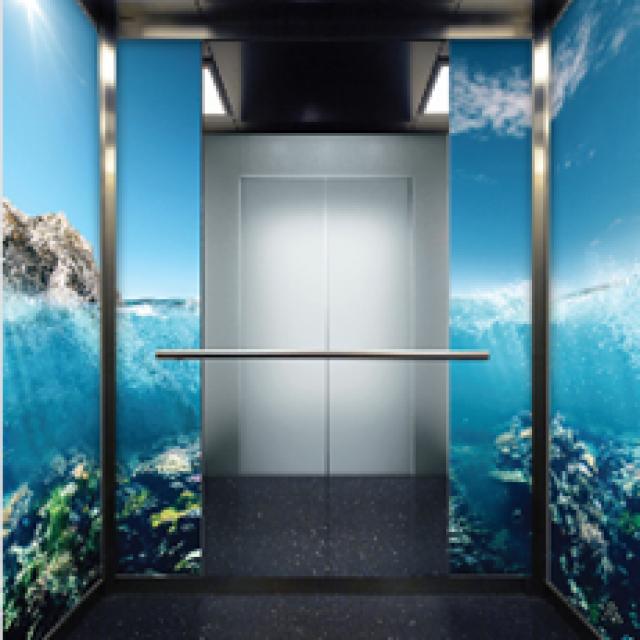 Film stratifié anti-rayures pour cabines d'ascenseur - Schindler Graphic Walls