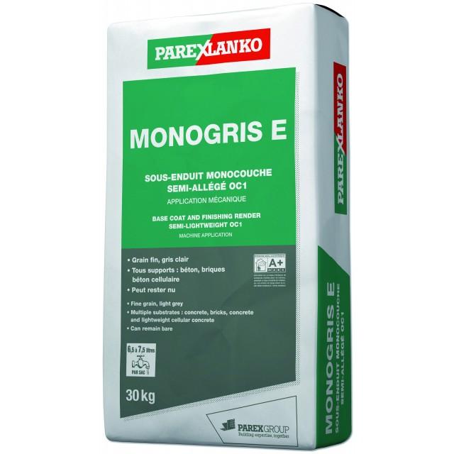 Sous-enduit MONOCOUCHE semi-allégé d'imperméabilisation Monogris E Parexlanko