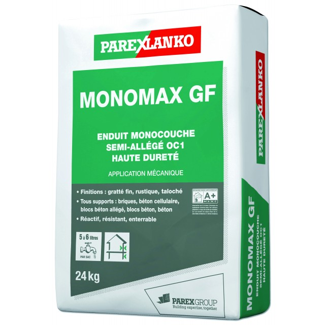 Enduit monocouche semi-allégé grain moyen CSIII Monomax GM Parexlanko