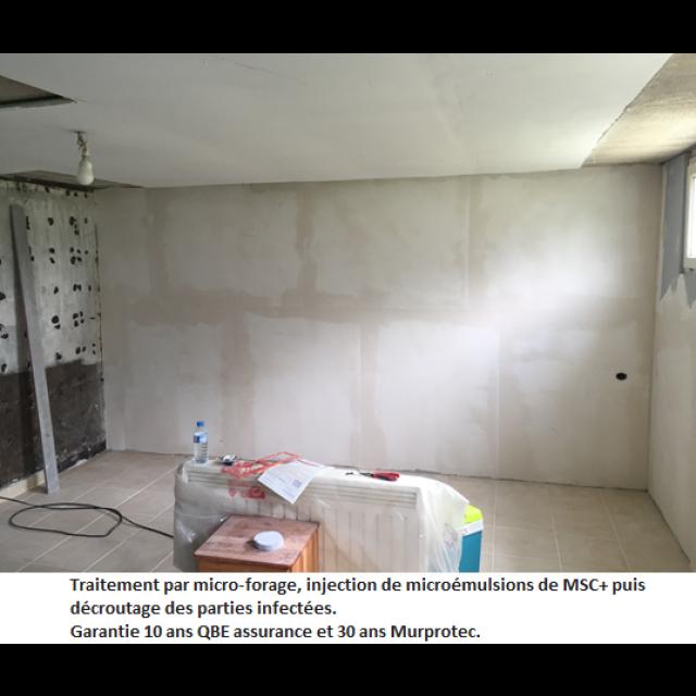 Traitement des remontées capillaires & du salpêtre Gamme MSC + Murprotec