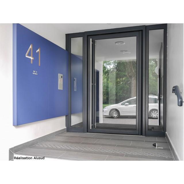 Porte d'entrée d'immeuble Gamme Résidence Clarté Cibox