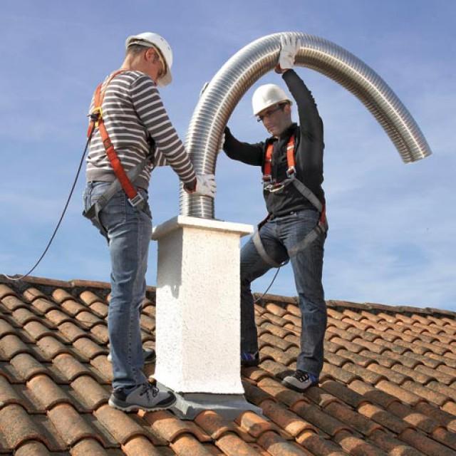 Conduit de tubage flexible en rénovation Tubaginox Flexible Poujoulat