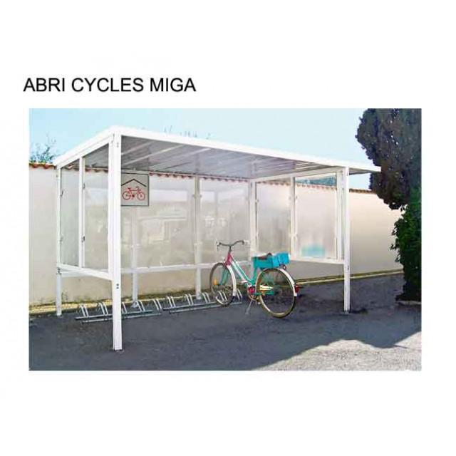 Abri cycles Miga bois