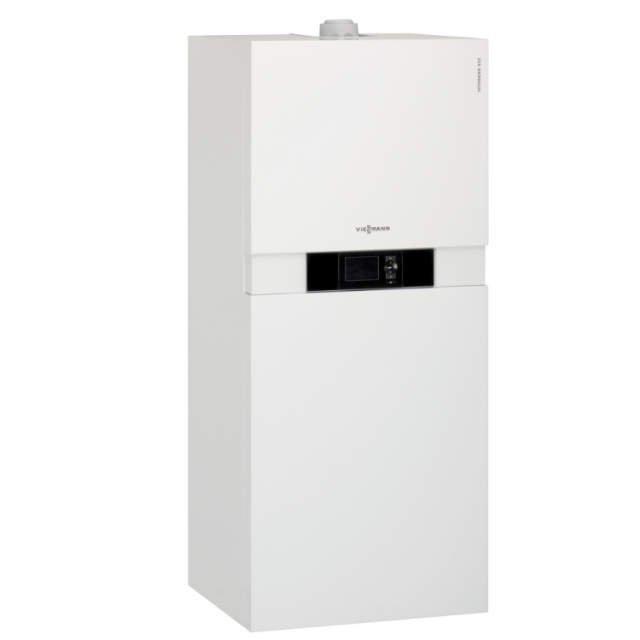 chaudi re compacte gaz condensation vitodens 222 f viessmann. Black Bedroom Furniture Sets. Home Design Ideas