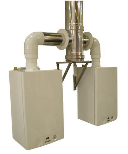 Conduit collectif pour chaudière 3CEP Multi+ Intérieur Poujoulat