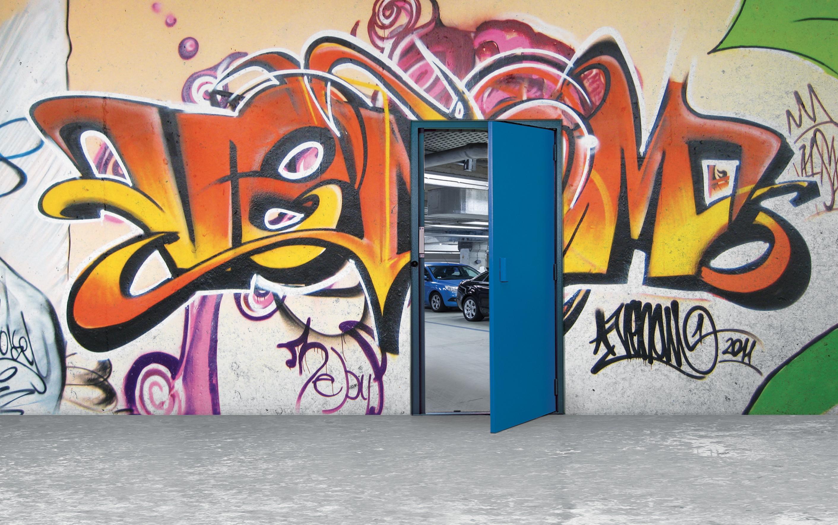 Porte de parking d'immeuble Cibox
