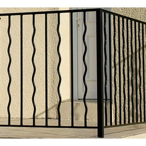 Garde-corps pour balcon en fer prépeint Mistral, haut. 97cm x larg. 146cm