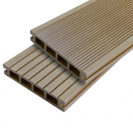Lame terrasse bois composite alvéolaire Duallon