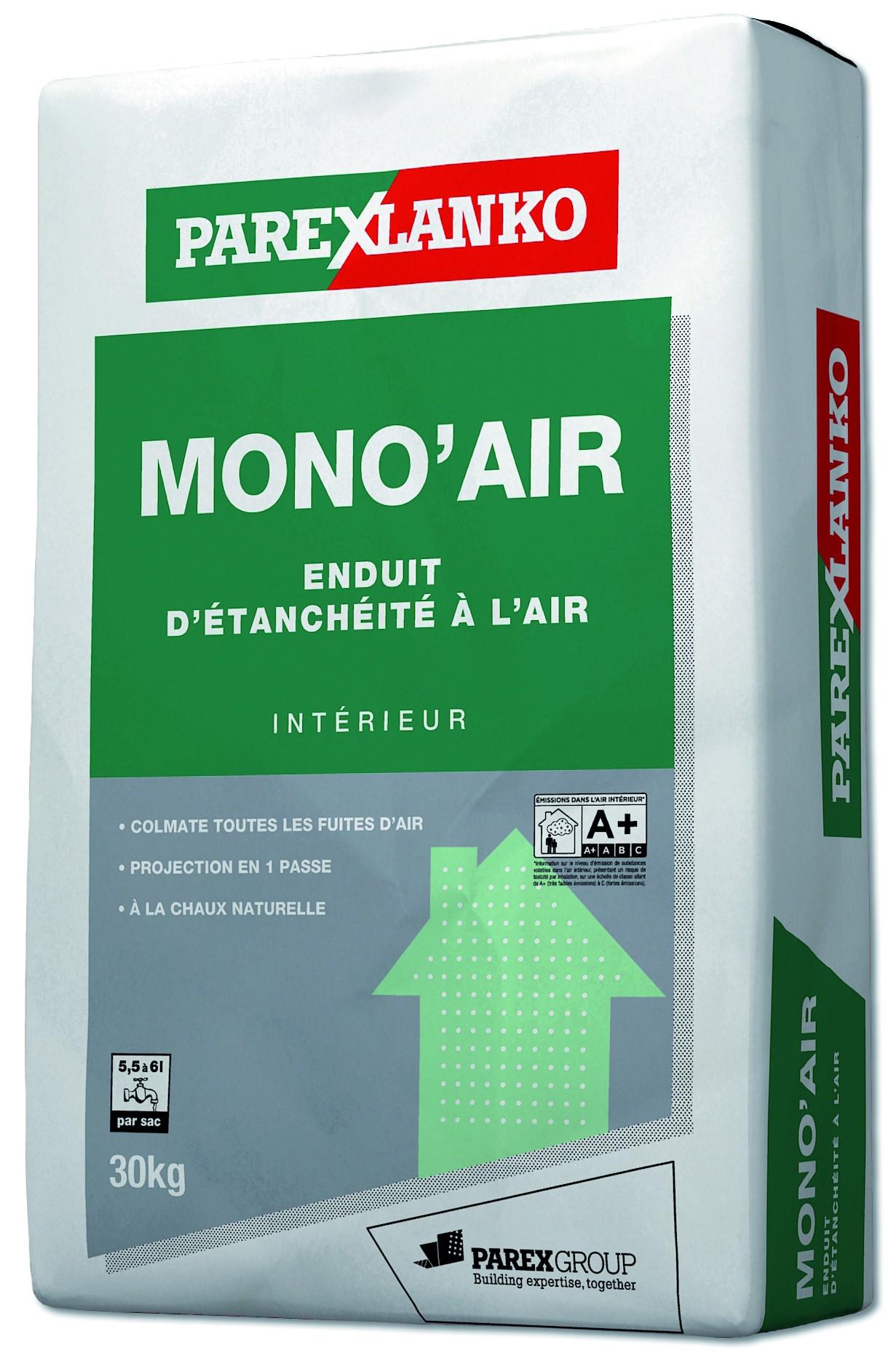 Enduit d'étanchéité à l'air en intérieur Mono Air Parexlanko