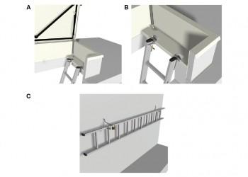 Échelle amovible pour trappe de toit