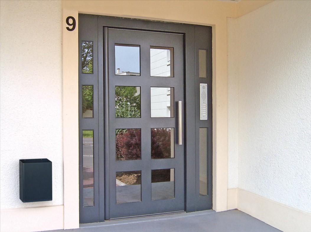 Porte d'entrée d'immeuble Gamme Sécurité Renforcée Clarté Cibox