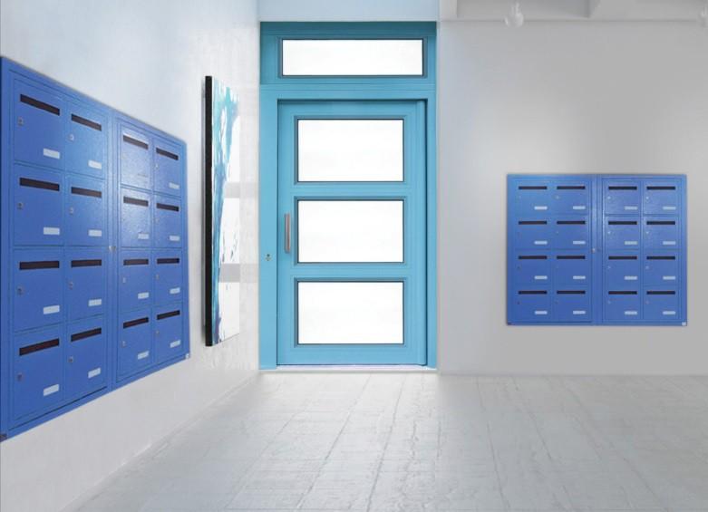 Porte d'entrée d'immeuble Gamme Sécurité Renforcée Trio Cibox