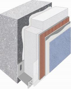 Sous-enduit chaux aérienne sur isolant polystyrène webertherm XM PSE