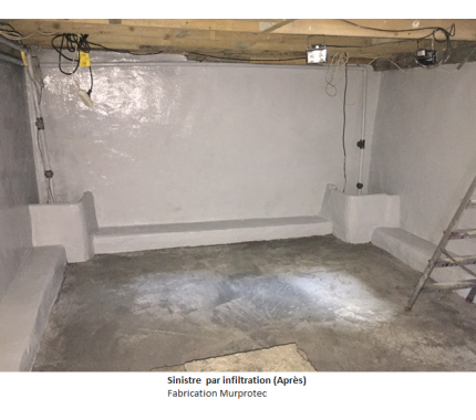 fuite d eau mur humide traitement des et des inondations des parties enterres gamme murpro. Black Bedroom Furniture Sets. Home Design Ideas
