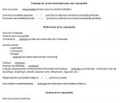 Exemple de carnet d'entretien de copropriété