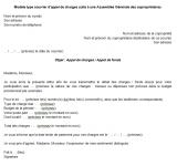 Modèle de courrier d'appel de charges de copropriété