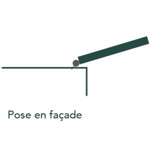 pose en façade